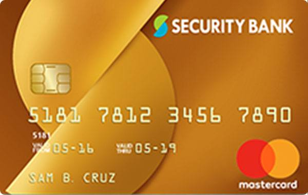 Security Bank Gold Rewards MasterCard